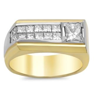 14k Gold Men's 1 4/5 ct TDW Diamond Ring (F-G, SI1-SI2)