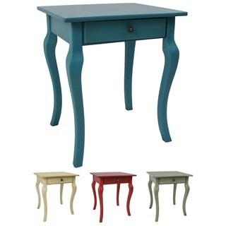 International Caravan Ashbury Wood Veneer Square One-drawer Side Table