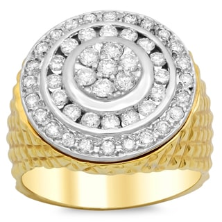 14k Gold Men's 1 3/5 ct TDW Diamond Ring (F-G, VS1-VS2)