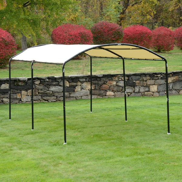 Shelterlogic round monarc canopy 10 39 x18 39 foot seasonal for 10 x 18 square feet