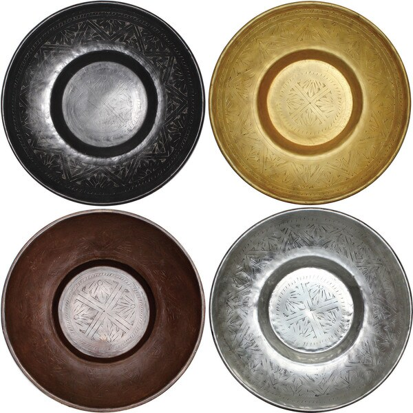 Kente Decorative Aluminum Plates (Set of 4)