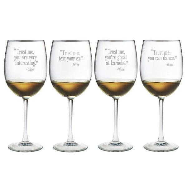 Trust Me Wine Glasses (Set of 4)