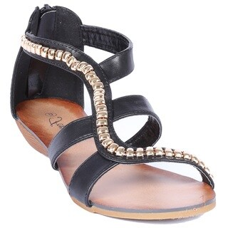 Coshare Women's Fashion Rebel-13 PU Gladiator Sandals