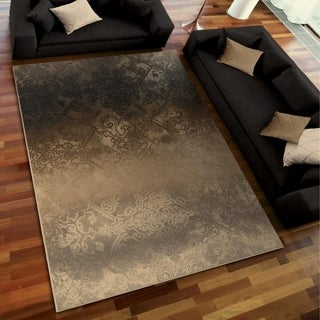 Galaxy Collection Faded Metal Pewter Area Rug (5'3 x 7'6)
