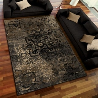 Galaxy Collection Blended Medallion Multi Area Rug (5'3 x 7'6)