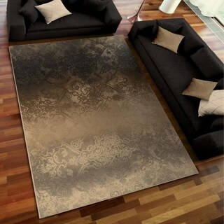 Galaxy Collection Faded Metal Pewter Area Rug (7'10 x 10'10)