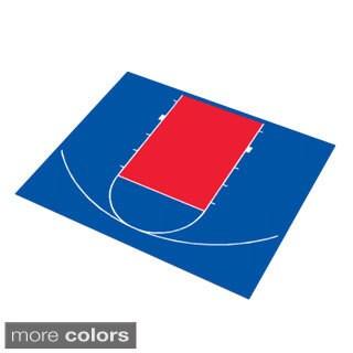 DuraPlay 30 x 25-foot Half Court Basketball Kit