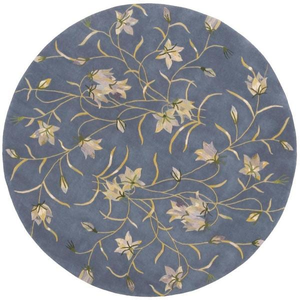 Rug Squared Beaumont Light Blue Rug (8' Round)