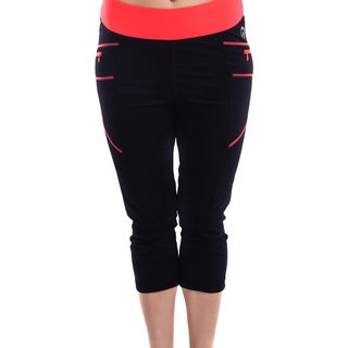 Women's Body Motion Gear Coral Stitching Capri