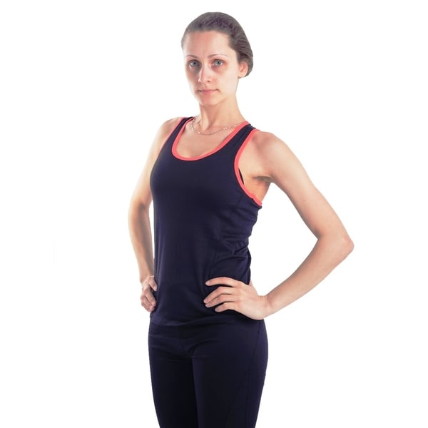 Women's Body Motion Gear Coral Trim Racerback Top