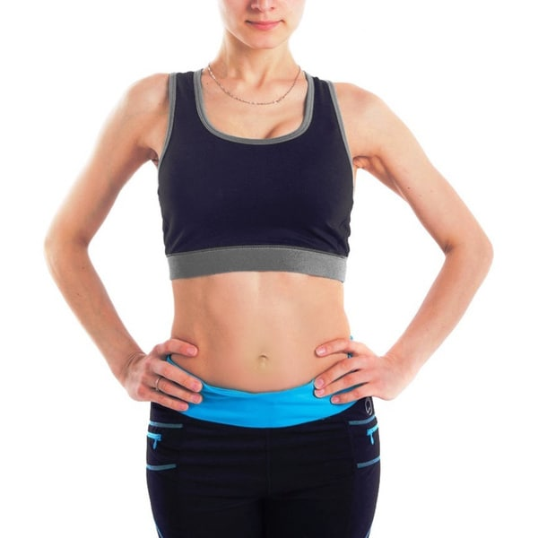Women's Body Motion Gear Black/ Grey Sports Bra