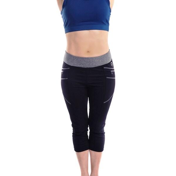 Women's Body Motion Gear Grey Stitching Capri