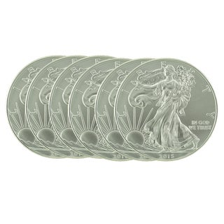 US Treasury 1-ounce 2015 Silver American Eagle Coin (Set of 6)