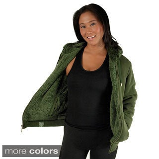 Womens Reversible Faux Fur Hoodie Jacket