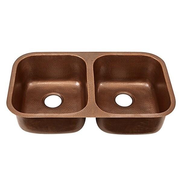 Sinkology Kadinsky Handmade Undermount Double Bowl 32 inch