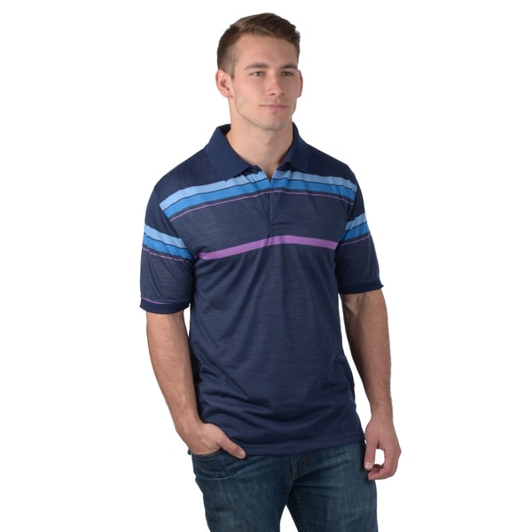 Boston Traveler Men's Short-sleeve Striped Polo Shirt