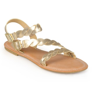 Journee Collection Women's 'Tansy' Gladiator Braided Sandals