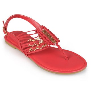 Journee Collection Women's 'Alder' T-strap Sling-back Sandals