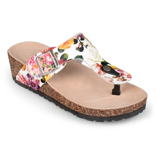 Journee Collection Women's 'Lily' Buckle T-strap Sandals