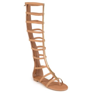 Journee Collection Women's 'Petal' Gladiator Knee-high Sandals