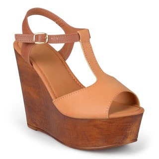 Journee Collection Women's 'Ivy' T-strap Platform Wedges