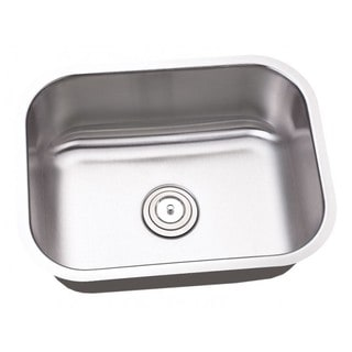 23.25-inch Single Bowl Undermount Stainless Steel Kitchen/ Island/ Bar Sink