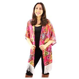 Le Nom Women's Multi Color Flowal Kimono