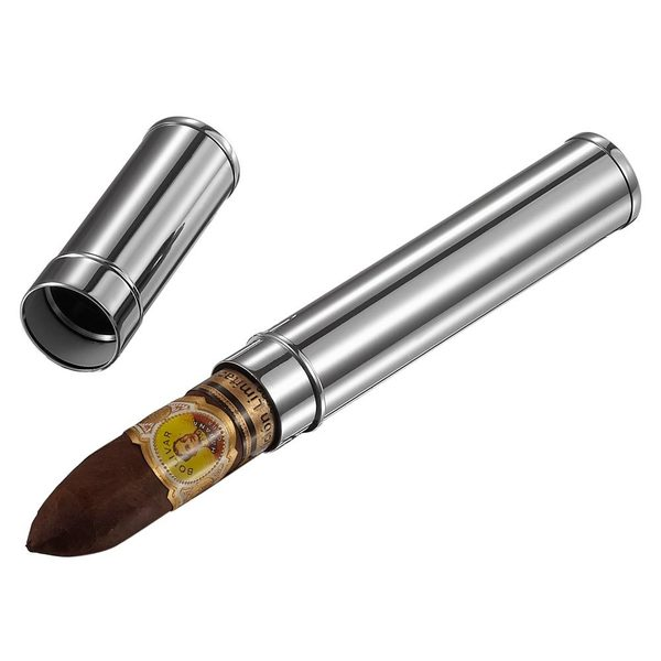 Visol Gareth Silver Finish Cigar Tube