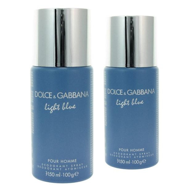 D&G Light Blue for Men 3.6-ounce Deodorant Spray (Pack of 2)