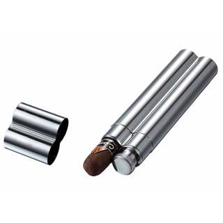 Visol Malamute Stainless Steel Cigar Tube and Liquor Flask Combo