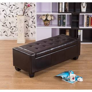 Warehouse of Tiffany Mackenzie Brown 52-inch Storage Ottoman