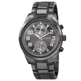 August Steiner Men's Japanese Quartz Multifunction Stainless Steel Bracelet Watch