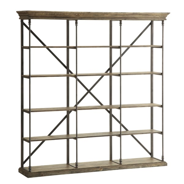 Christopher Knight Home Metal and Wood Bookcase - 17241031 - Overstock ...