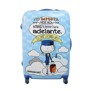 Hablando Sola Know Where Youre Going 30-inch Hardside Spinner Upright Suitcase