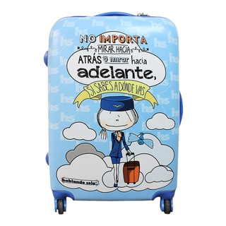 Hablando Sola Know Where You're Going 22-inch Hardside Carry On Spinner Upright Suitcase