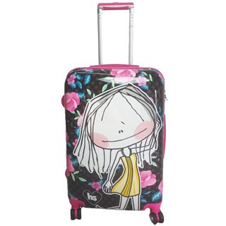 Hablando Sola Small World 26-inch Hardside Spinner Upright Suitcase
