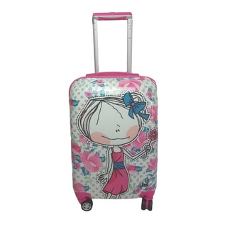Hablando Sola Small World 22-inch Hardside Carry On Spinner Upright Suitcase