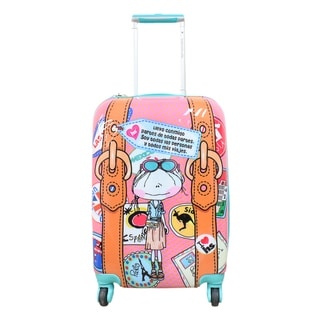 Hablando Sola Little Pieces of the World 26-inch Hardside Spinner Upright Suitcase