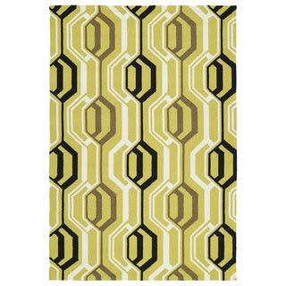 Indoor/ Outdoor Handmade Getaway Gold 3D Rug (8'0 x 10'0)