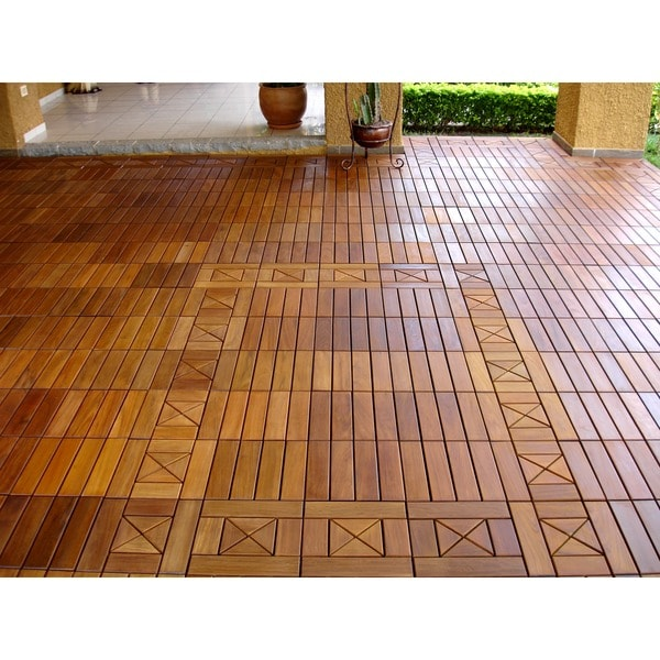 Ecodeck 10 sq ft ipe wood flooring and decking tiles pack for Hardwood floors 600 sq ft