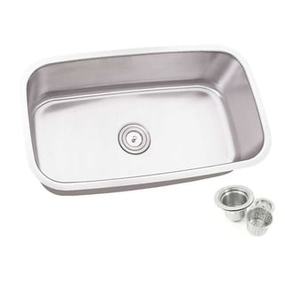 30-inch Single Bowl Undermount Stainless Steel Kitchen Sink Basket Strainer