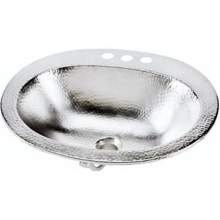 Sinkology Dalton Handcrafted Drop-in 20-inch Hammered Nickel Bathroom Sink