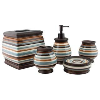 Sherry Kline 5-piece Stretta Stripes Bath Accessory Set