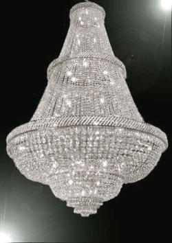 French Empire Crystal Chandelier Lighting 6FT Tall Perfect for An Entryway