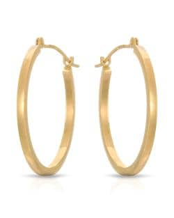 14K YELLOW GOLD 24MM CLASSIC HOOP EARRINGS