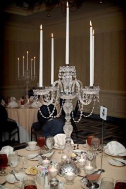 *Set Of 10* Crystal Trimmed Chandelier Lighting Wedding Candelabras Candelabra