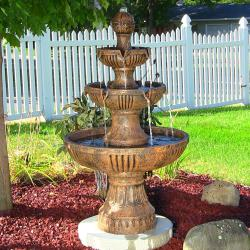 Sunnydaze Flower Blossom 3-Tier Water Fountain