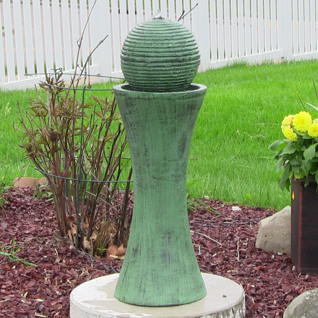 desert spring solar on demand outdoor water fountain 30 inch tall