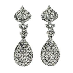 Pavé Crystal Lush Teardrop Earrings