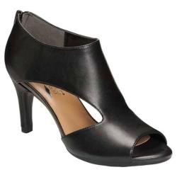 Women's Aerosoles Glamorous Heel Black Leather
